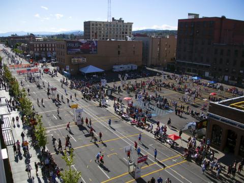 Spokane Hoopfest 比赛场地